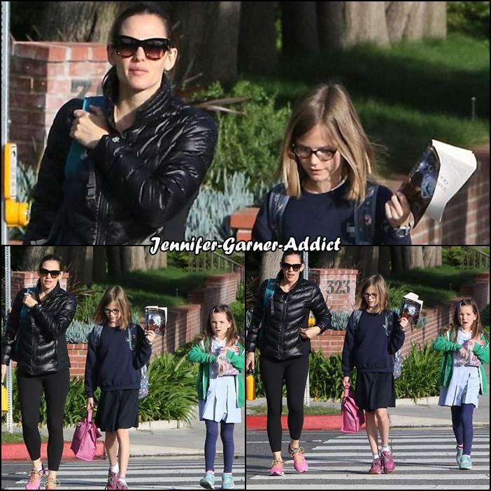 Jen a été chercher les filles à l'école - le 13 Avril -
