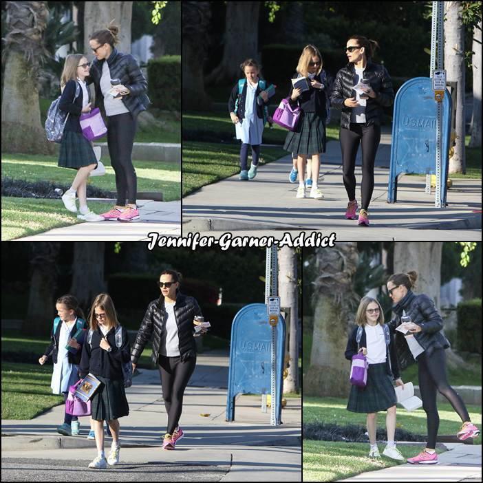 Jen a été amener les filles à l'école avec Samuel - le 20 Avril -