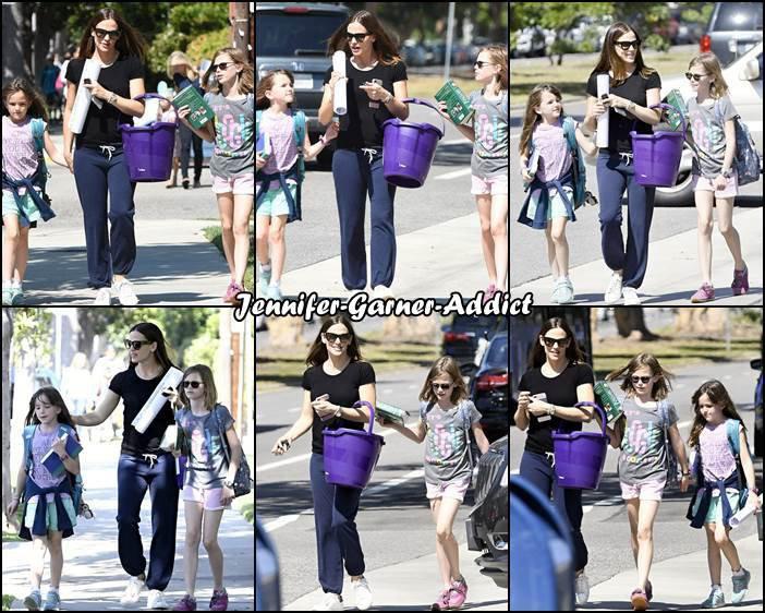 Jen est allée chercher les filles à l'école - le 21 Avril -