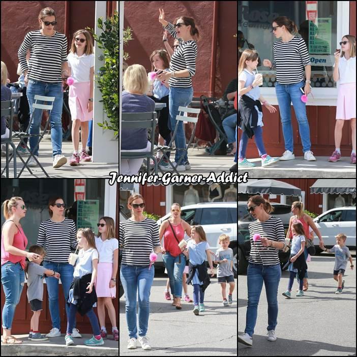Jen et les enfants sont allés manger une glace - le 25 Avril -