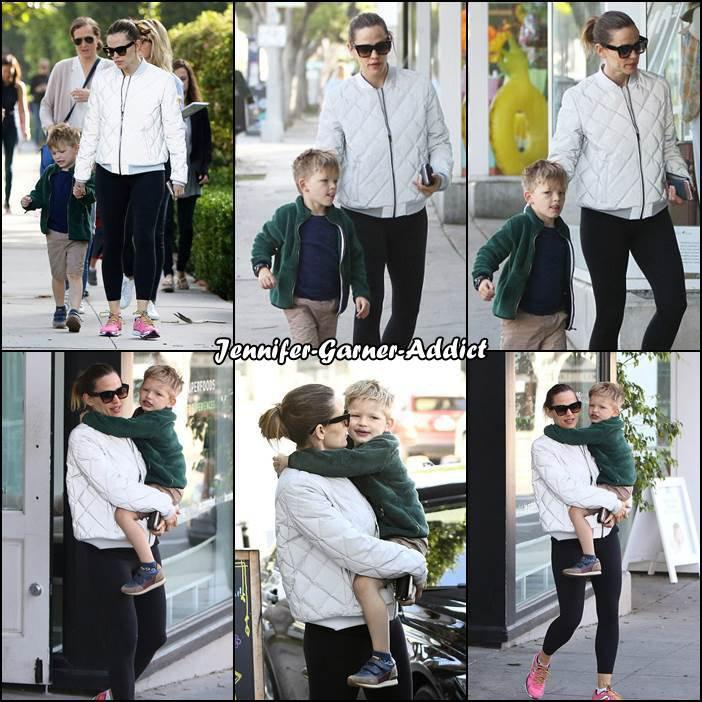 Jen et Samuel sont allés amener les filles à l'école puis manger une glace - le 3 Mai -