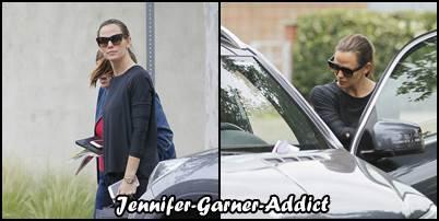Jen sortant de son cours de gym - le 25 Mai -