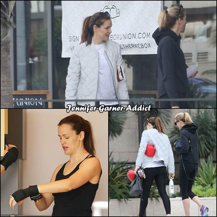 Jen a été faire de la boxe - le 27 Mai -