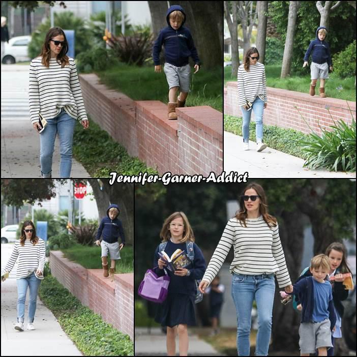 Jen et Samuel sont allés chercher les filles à l'école - le 30 Mai -