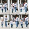 Jen et Samuel avec l'agent de Jen et sa fille - le 1er Juin -