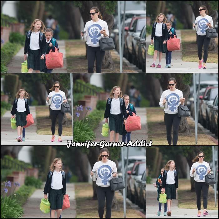 Jen a été chercher les filles à l'école - le 2 Juin -