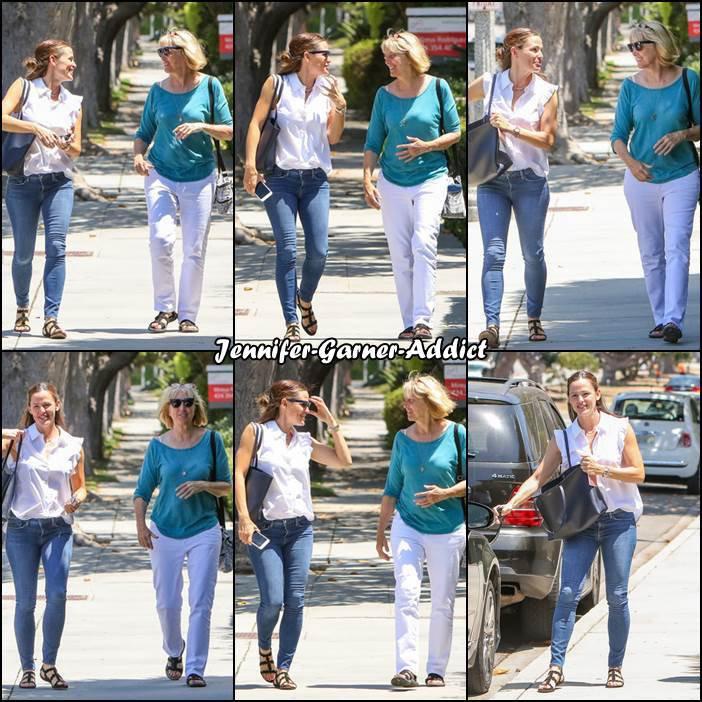 Jen et sa belle mère dans les rues de LA - le 1er Aout -
