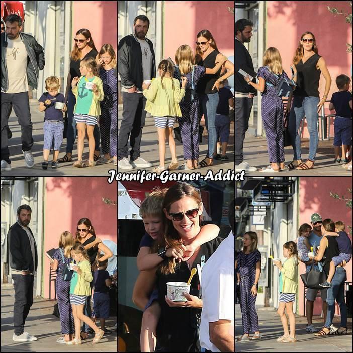 Jen et Ben sont allés manger au restaurant avec les enfants - le 13 Aout -