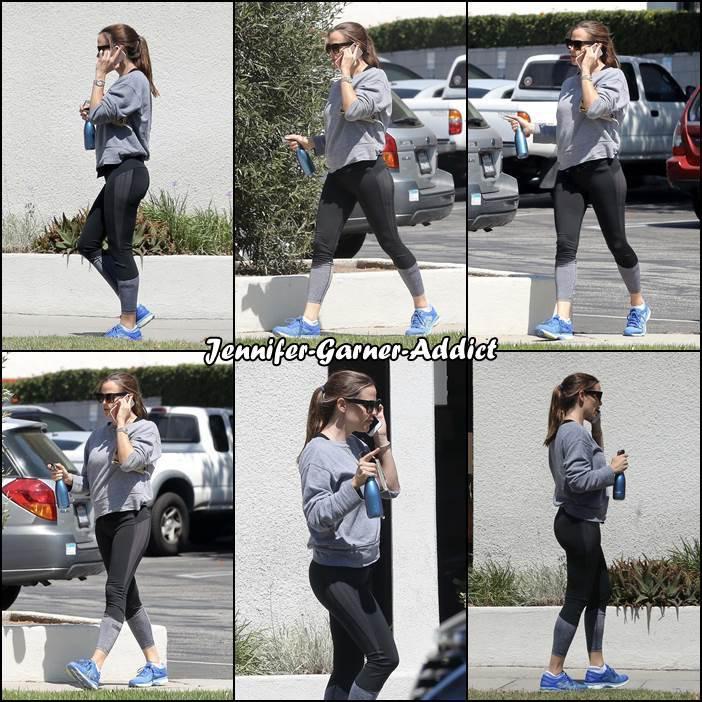 Jen sortant de la gym - le 28 Aout -