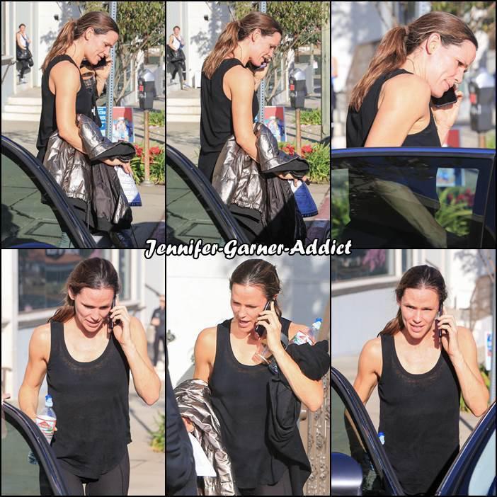 Jen sortant de son cours de gym - le 5 Janvier -