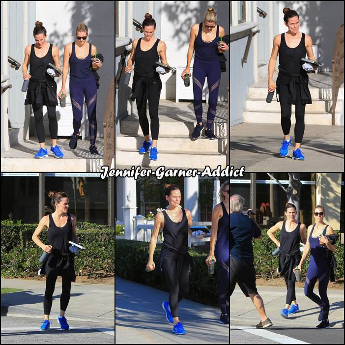 Jen sortant de son cours de gym - le 13 Janvier -