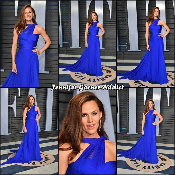 Suite Oscars : Jen aux Oscars, sur le tapis rouge, sur scène et l'after party de Fair, il y a aussi une photo publiée sur instagram