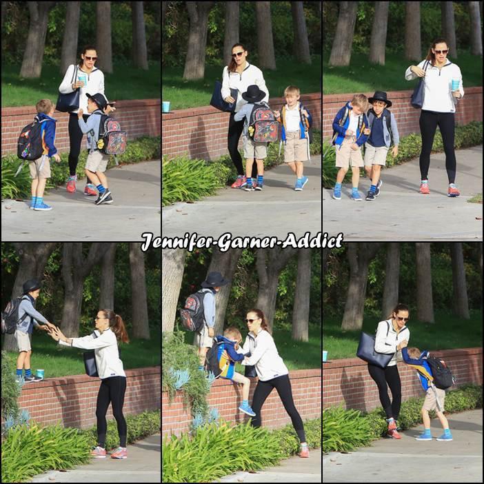 Jen est sortie de la gym et a été chercher Samuel et un copain à lui à l'école - le 8 Mars -