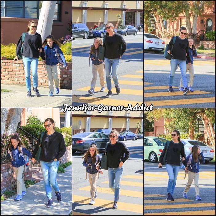 Jen a été chercher Séraphina à l'école - le 19 Avril -