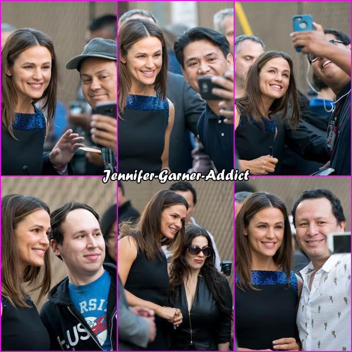 Jen a été invitée dans le Jimmy Kimmel Live pour la sortie de sa nouvelle série Camping - le 9 Octobre - et elle en a profité pour aller auprès de ses fans.