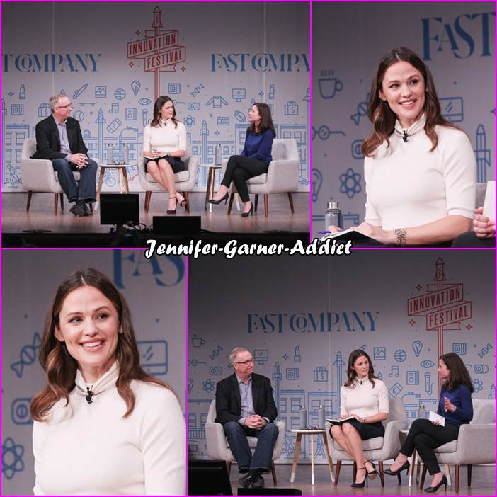 Jen a été conviée à participer au Fast Company Innovation Festival pour l'entreprise qu'elle a créé avec 3 autres parents Once Upon A Farm - le 25 Octobre - à New York