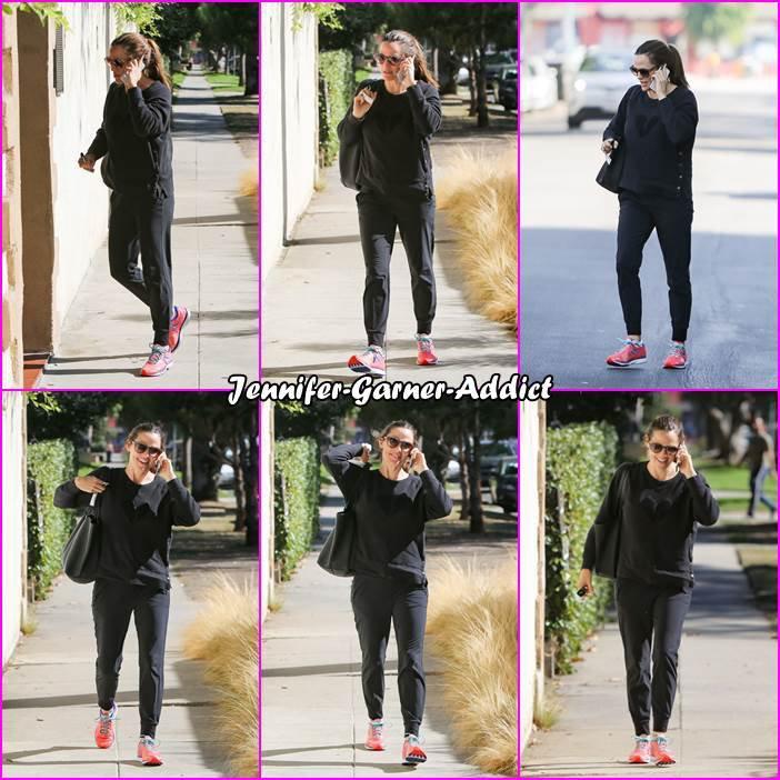 Jen allant à la gym - le 6 Novembre -