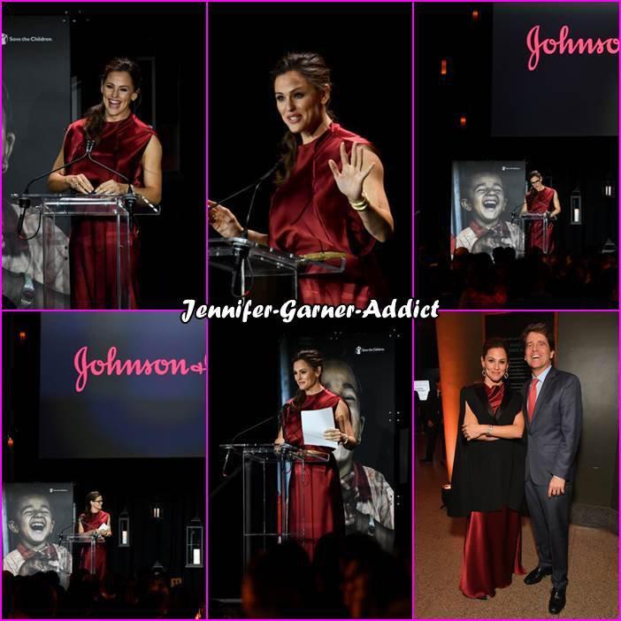 Jen au gala de Save The Children