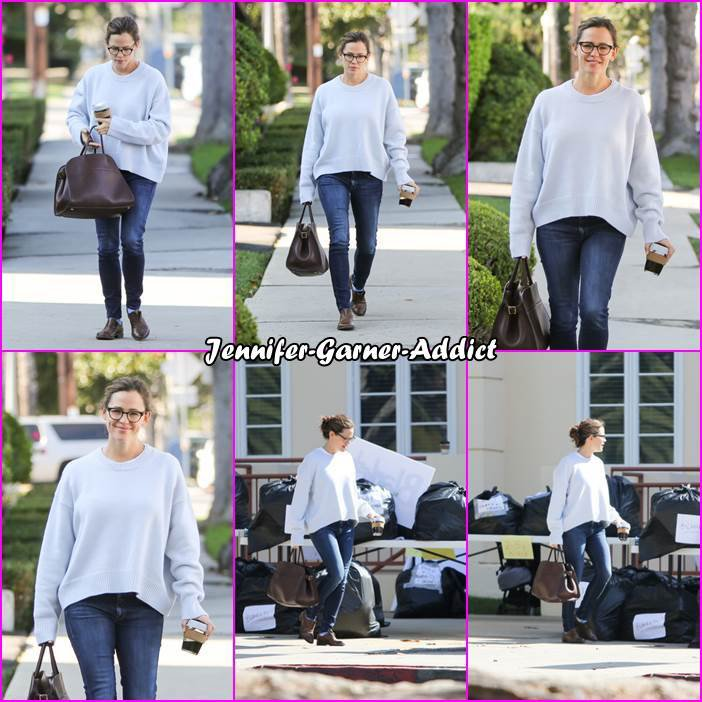 Jen a été à l'école de ses enfants puis faire des courses - le 15 Novembre -