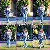 Jen dans Los Angeles, probablement venant de récupérer les enfants à l'école - le 13 décembre -