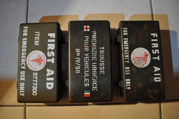 Boîtes de Premiers secours US, française et reconversion