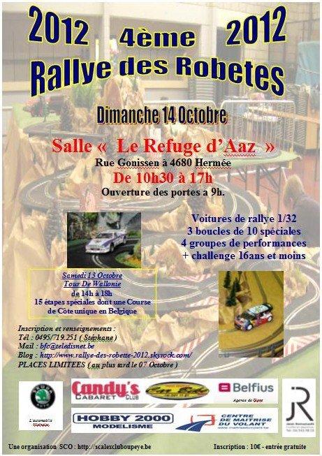 RALLYE DES ROBETES 2012