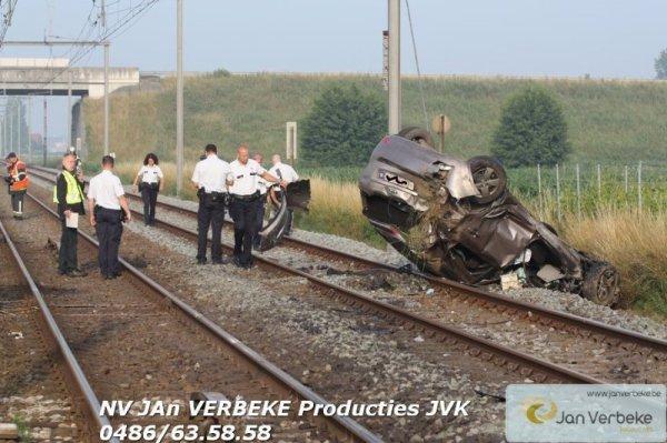 accident entre train et voiture