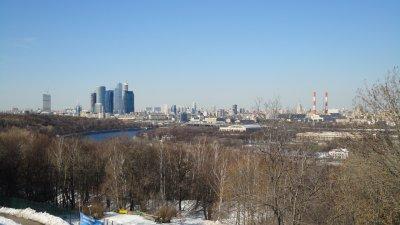 L'université de Moscou...et sa vue sur la ville!
