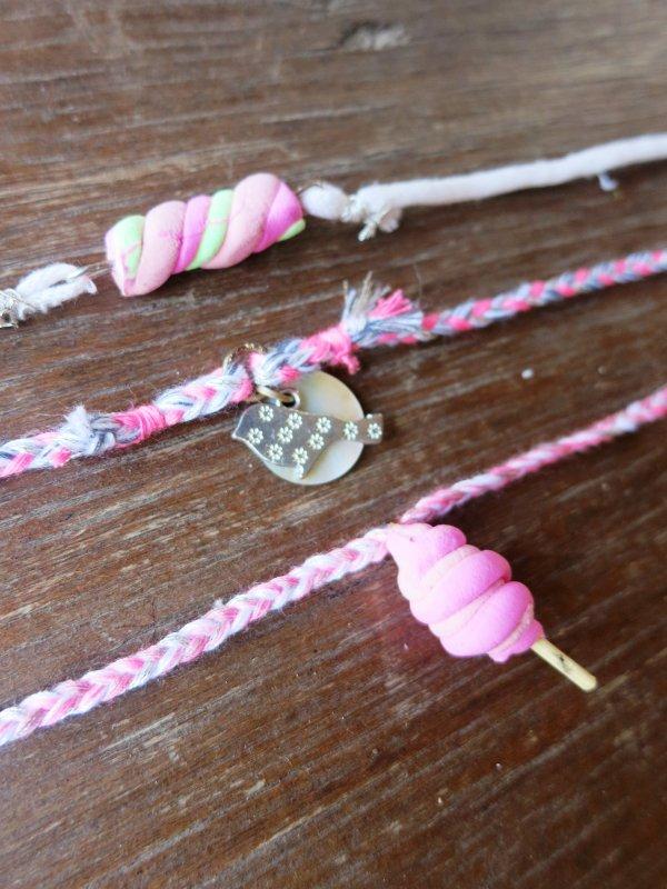 Créa' : les bracelets sweet & pink <3