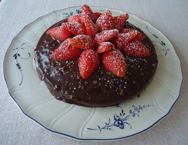 """ Gâteau Chocolat Fraise  """