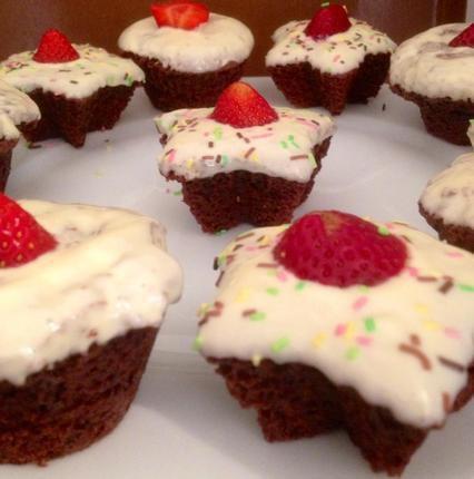 """"""" Muffins Chocolat Noisette & Nappage Chocolat Blanc """""""