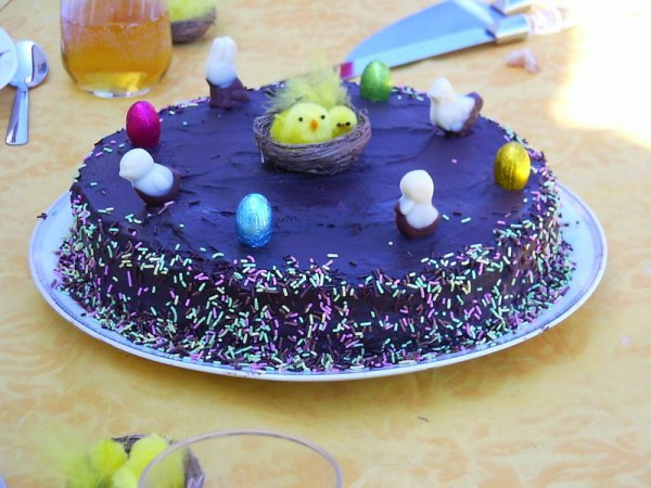 """"""" Gâteau au Chocolat & Décoration de Pâques """""""