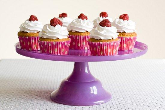 """"""" Cupcakes à la Framboise et Chocolat Blanc """""""