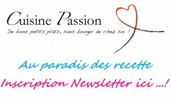 """"""" Newsletter d'Au Paradis Des Recettes ! ! """""""