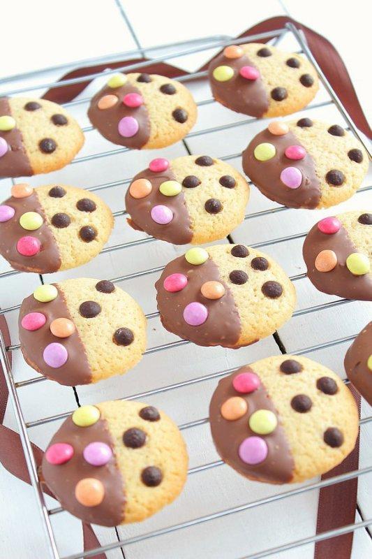 """"""" Cookies Bicolores Chocolat & Smarties """""""