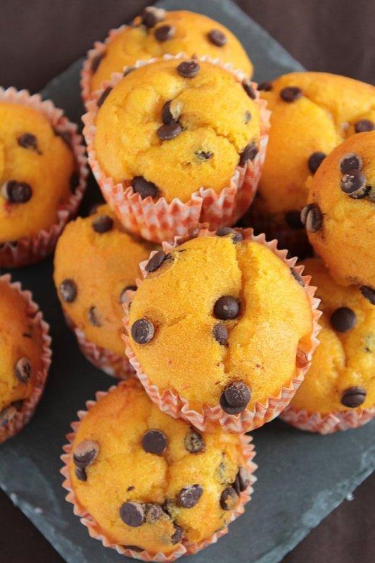 """"""" Muffins d'Halloween au Potimarron & Pépites de Chocolat """""""