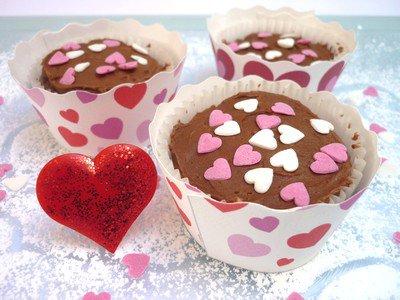 """"""" Cupcakes Chocolat & Fruits Rouges pour la Saint Valentin """""""