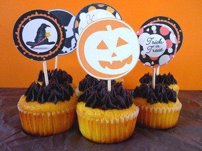 """ Cupcakes d'Halloween au Potimarron & Chocolat """