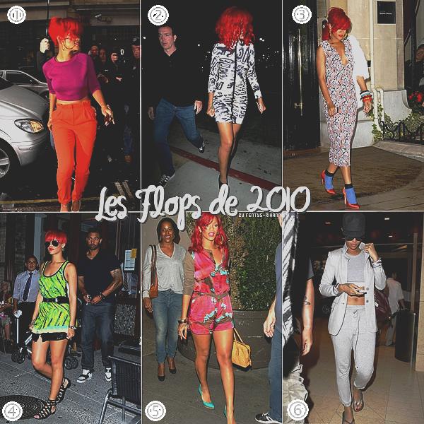 . . Les Tops et les Flops des sorties de Rihanna en 2010.. .