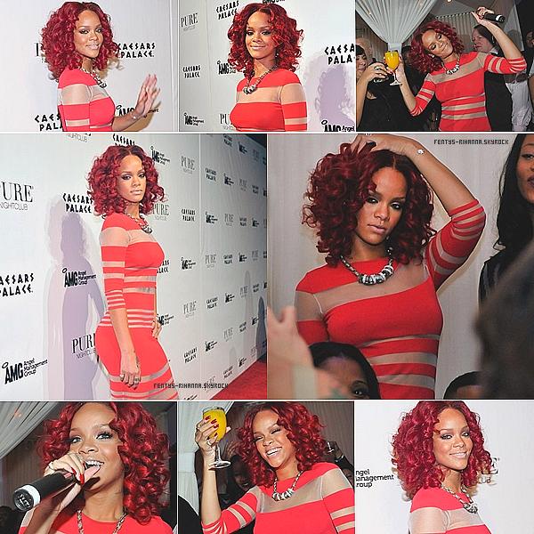 . 31 décembre / Rihanna à fêter l'arrivée de 2011 au PURE night Club à Las Vegas.