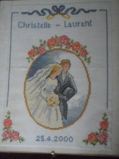 broderie pour un mariage