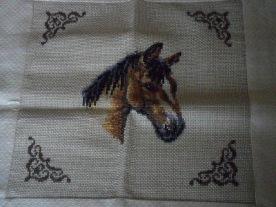 coussin avec une tete a cheval