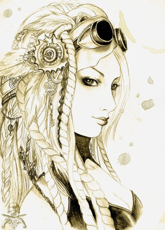 Steampunk Girl portrait