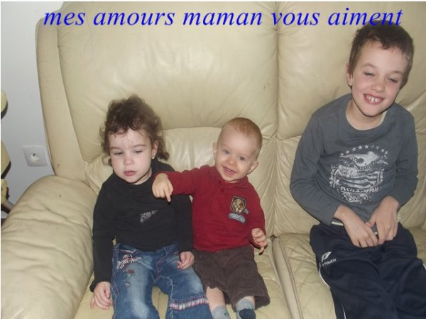 mes enfants diego ,luna,gregory