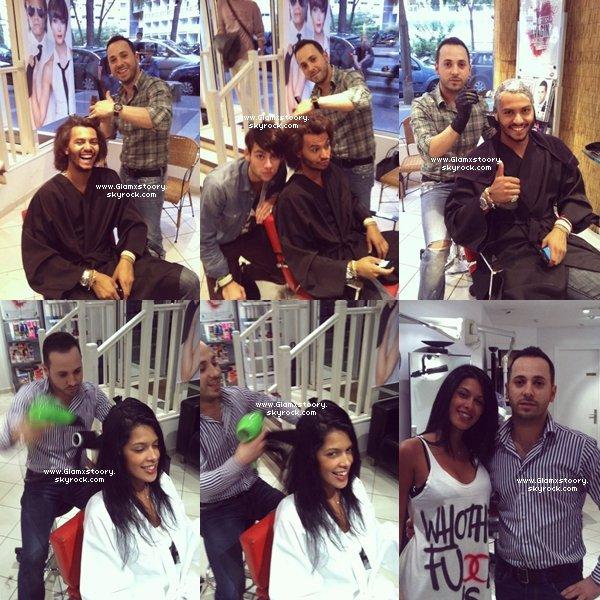 ◊   G L A M x S T 0 0 R Y ___* ; Photos de Daniel chez le coiffeur avec Ayem; Simon et Johnattan.