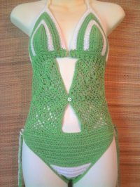 Trikini Vert et Blanc