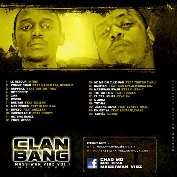 Massiwan vibz vol 1 / mes peines feat Black D.J.A (2011)
