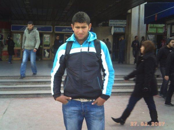 c moi à la gare au tunis