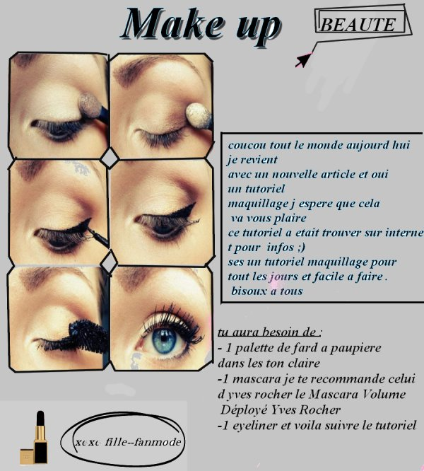 tuto make up ♥