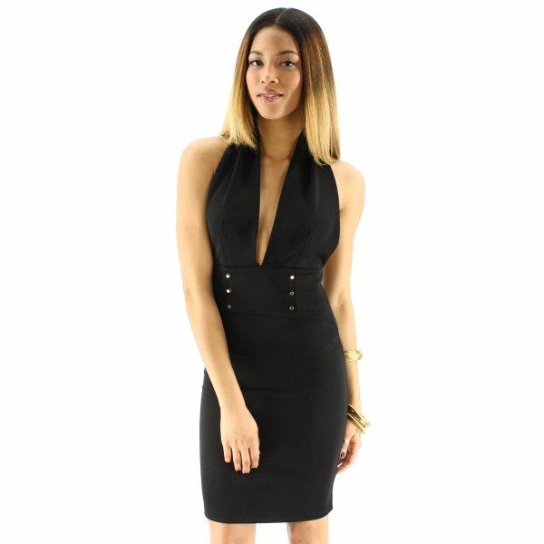 Miss YCMC Halter Scuba Dress